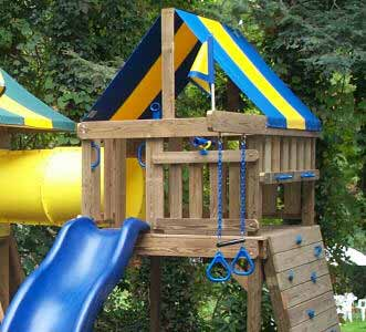 Wooden playsets and playground equipment plans kits for Playground building plans