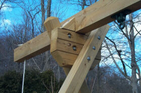swing set beam design a frame