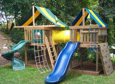 Swing set plans to build wooden swing sets for Wooden jungle gym plans