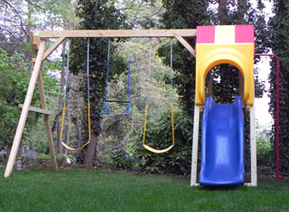 swing set slide hood