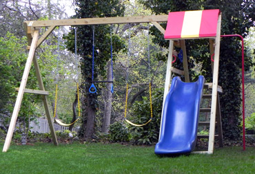 Swing Sets Jungle Fort Swingset Slide